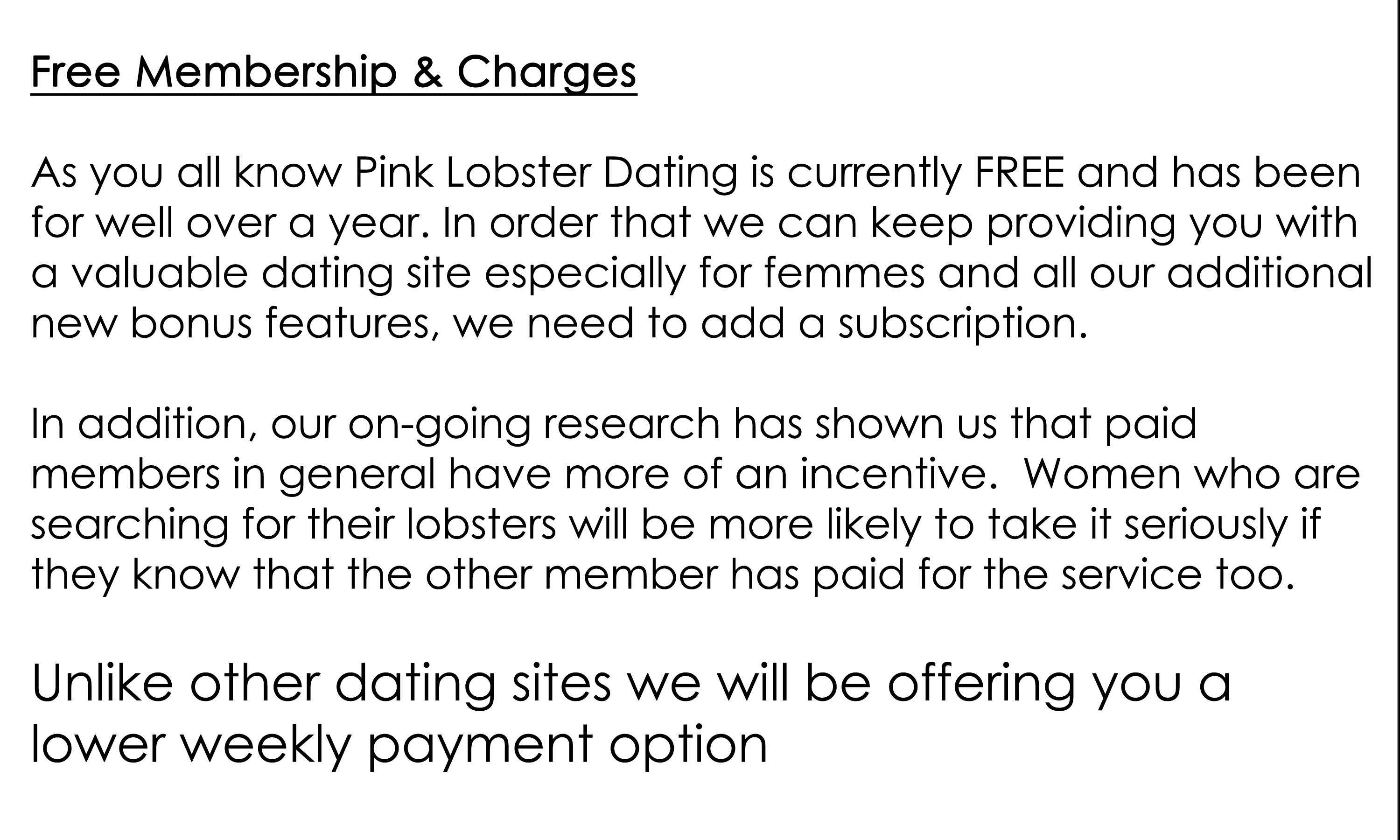 No membership fee dating sites